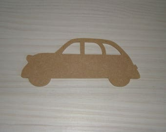 2 CV MDF to customize, paint 16 cm x 7 cm