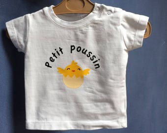 """Personalized """"Little chick"""" T-shirt size 68 (4-6 months)"""