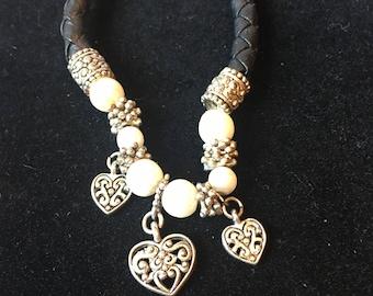 A black pearl bracelet