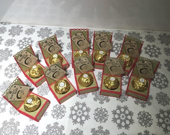 Display Ferrero Rocher Christmas scrapbooking