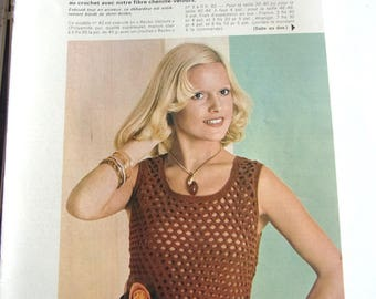 vintage out - January 1975 CROCHET KNITTING booklet