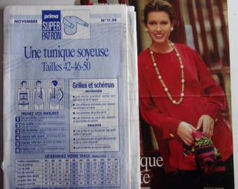 sewing pattern PRIMA - No. 11 - 94 - SOYEUSE TUNIC for woman
