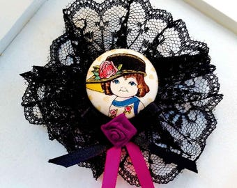 "Cute brooch pin ""Little Suffragette"""