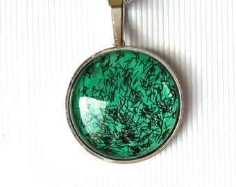 25 MM glass CABOCHON necklace