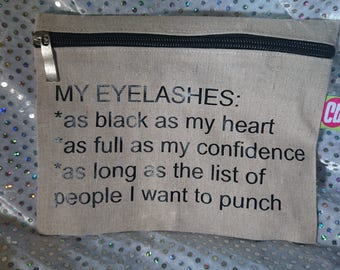 Eyelashes make up bag