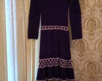 Hand made knitting dress