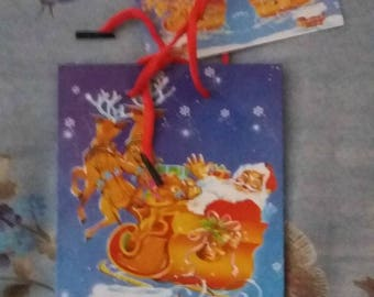 POUCH GIFT PATTERN SANTA AND SLEIGH