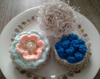 lot of pies, cakes crochet handmade