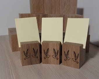 Wedding wooden place card holders