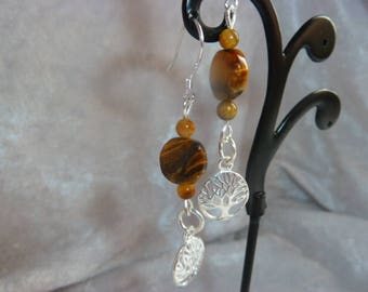 Beautiful genuine Tiger's eye earrings