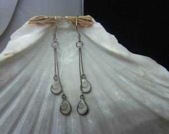 Genuine eye of Saint Lucia earrings