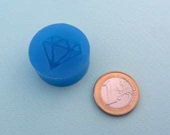 Miniature silicone mold - Diamond - For polymer clay, resin, cold porcelain, etc.