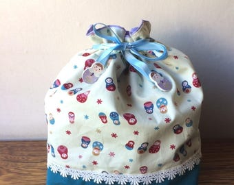 Drawstring bag - russian dolls