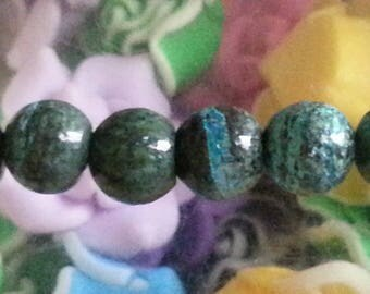 5 beads with silver 8mm diameter hole 1 mm