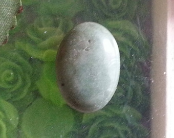 1 cabochon of green agate 20x15mm in size