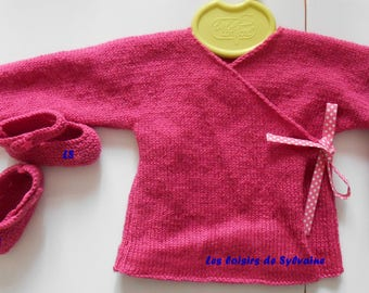 wrap fuchsia with its link with small dots: to order