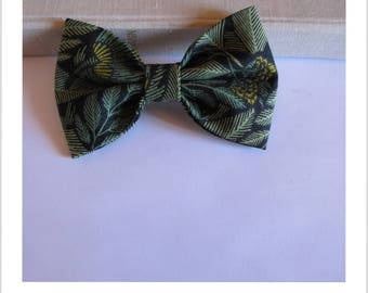 Bow tie and clip in hair 2 in 1 black jungle