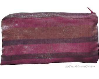 Silk pink and purple makeup