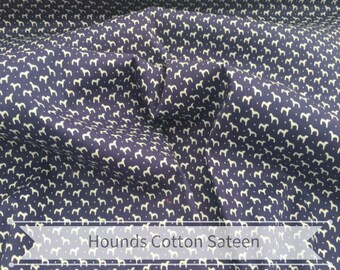 Houndstooth Cotton Sateen with Spandex Fabric - Dressmaking, Sewing