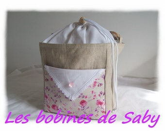 "bag lunch ""spring roses"" shabby style"