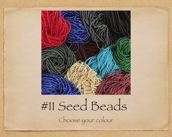 Seed Bead Hanks Size 11 Czech