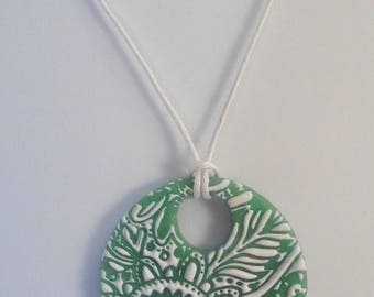 Green summer necklace