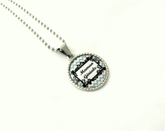 Mother's day, personalized jewelry necklace MOM cabochon necklace