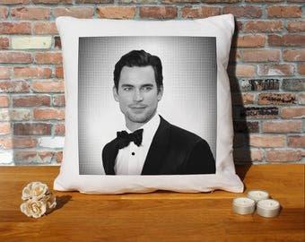 Matt Bomer Pillow Cushion - 16x16in - White