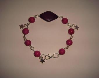 Bracelet Pearl round diamond star pendant