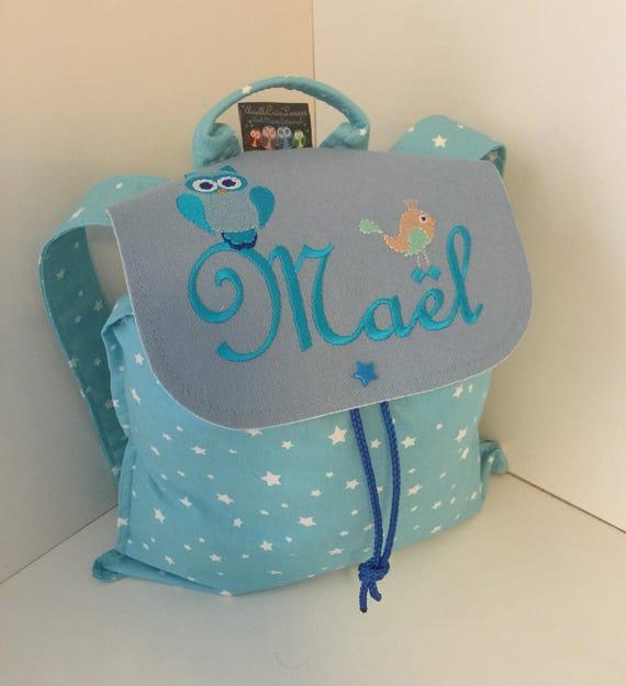 sac dos enfant ou b b personnalisable avec pr nom pour la. Black Bedroom Furniture Sets. Home Design Ideas