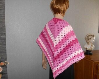 beautiful shawl in shades pink