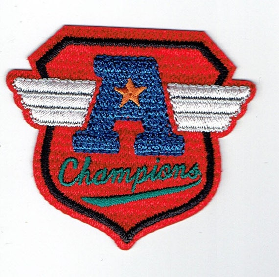 """Patch fusible trend """"champions"""" pattern"""