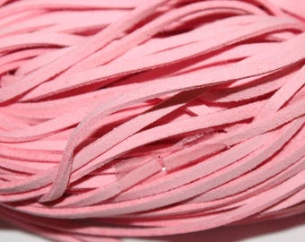 Suede cord, light pink, 1 m