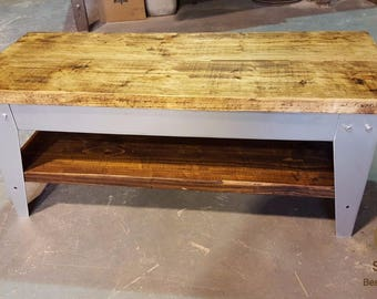 Rustic Industrial Coffee Table NEW DESIGN!!
