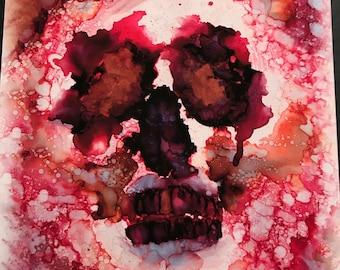 Pink skull print