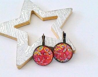 Stud Earrings sparkle pink