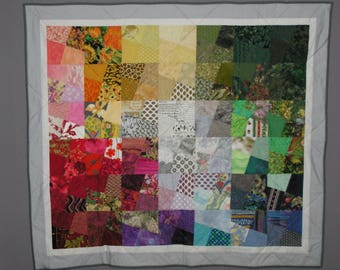 Large multicolored patchwork