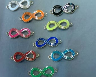 """Connector symbol infinity rings """"color"""" Royal Blue"""
