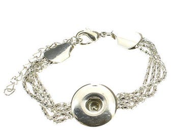 "CHUNK Bracelet pressure ""rhodium"" creations of jewels"