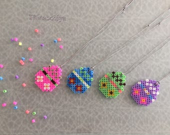 "Necklaces ""Easter egg"" Bead ""pixel"""