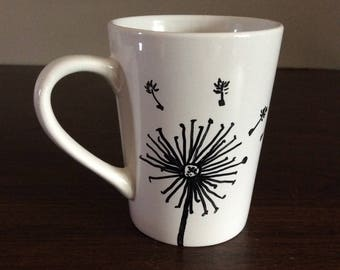 Painted coffee mug