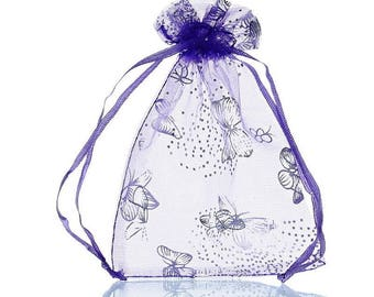 10 mixed bags pouches Organza gift wedding party 9 x 12 cm