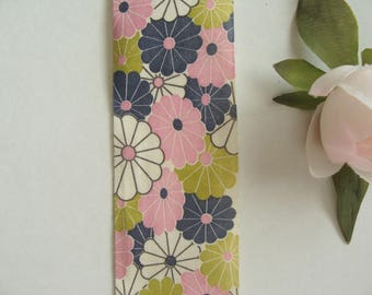 Cotton Ribbon floral 38 mm wide printed ruler