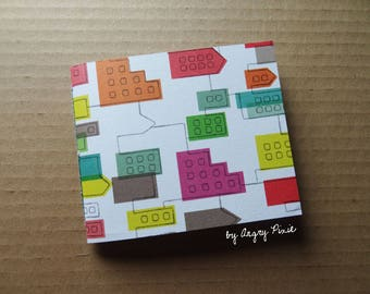 Multicolored leather journal handmade real pattern