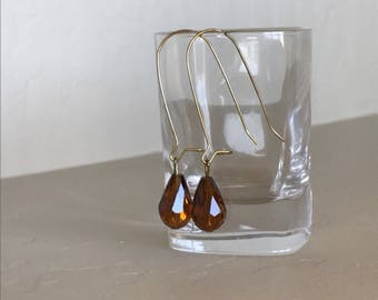 Genuine Custom Made Topaz Crystal Earrings