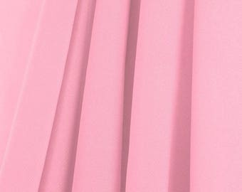 """60"""" Wide - High Quality 100% Polyester Chiffon Sheer Fabric - PINK"""