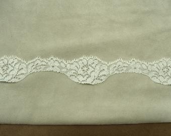 CALAIS lace - 3cm - white & silver