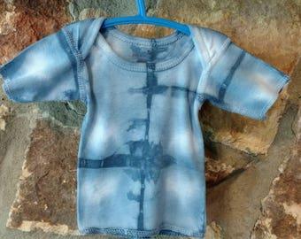 Shibori dyed newborn top