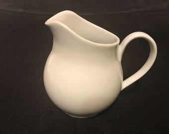 White Ceramic Creamer, Milk Pitcher Made in Brazil