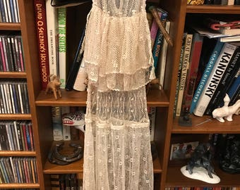 1970's Vintage Crochet Dress